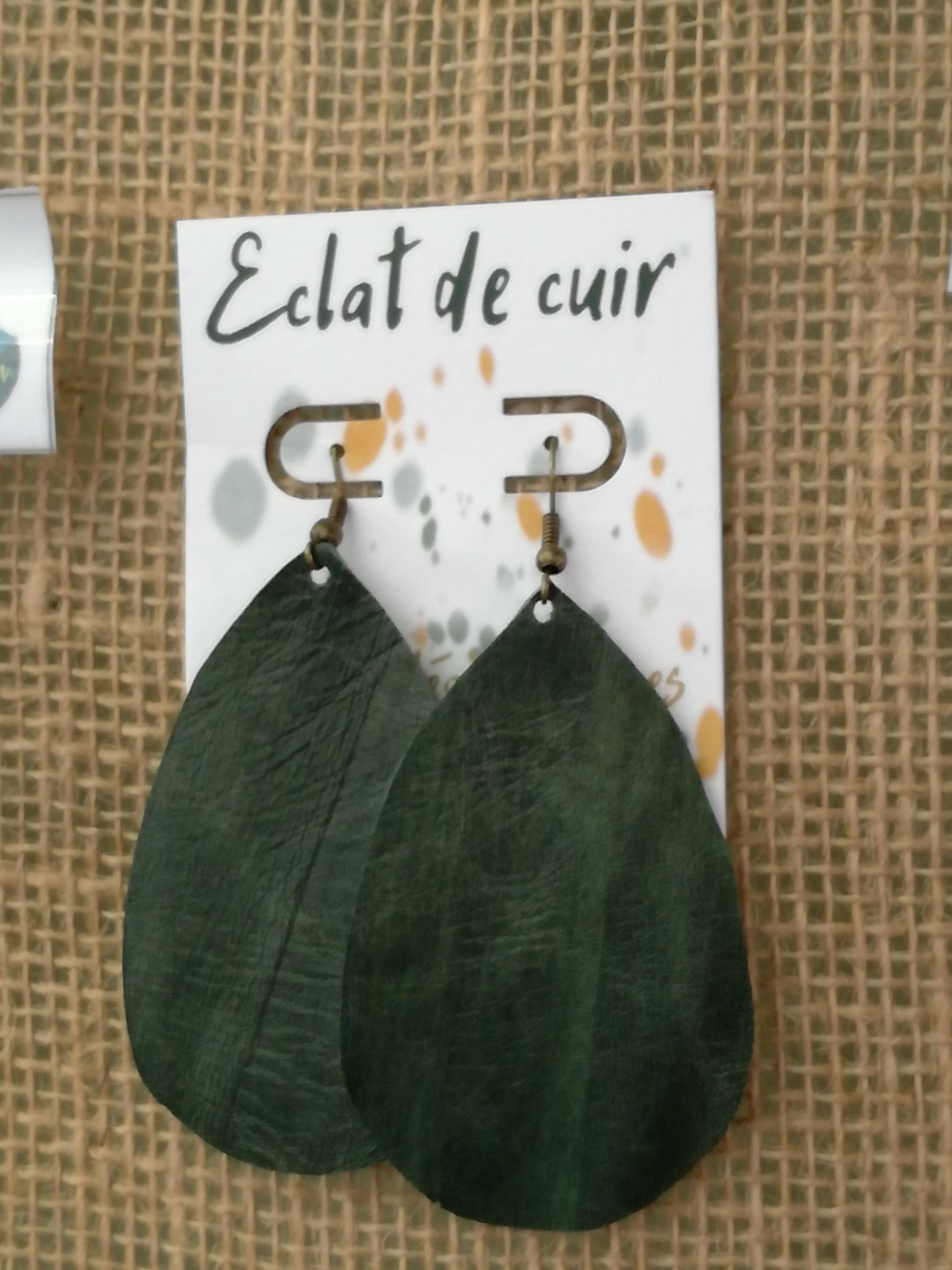Eclat de cuir - Boucle oreilles